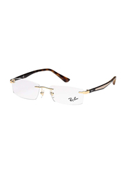 Ray-Ban Rimless Rectangle Gold Frame Unisex, RX6326I-2500, 52/15/140