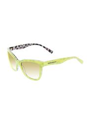 Dolce & Gabbana Full Rim Cat Eye Yellow Sunglasses for Girls, Gradient Yellow/Brown Lens, DG4237-28842L, 47/15/130