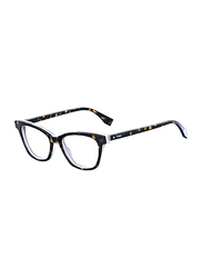 Fendi Full Rim Cat Eye Dark Havana Frame for Women, FN-0256-0865217, 52/17/140
