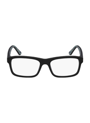 Lacoste Full-Rim Square Matte Black Computer Glasses for Kids, with Blue Light Filter, Clear Lens, 8-13 Years, LA-L3612-002-49-BC, 49/16/135