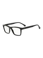 Emporio Armani Full Rim Square Black Frame for Men, EM-3138-5017, 55/18/145