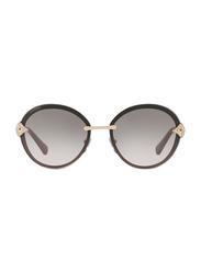 Bvlgari Full Rim Oval Gold Sunglasses for Women, Grey Gradient Lens, BV6101B-20148G, 61/15/135