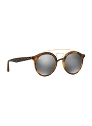 Ray-Ban Full Rim Round Tortoise/Gold Sunglasses Unisex, Grey Mirrored Lens, RB4256-60926G, 46/20/145