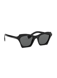 Burberry Full Rim Cat Eye Black Sunglasses for Women, Grey Lens, BU-4283-300187, 49/21/140