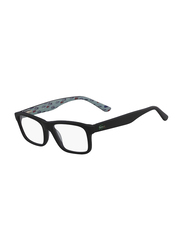 Lacoste Full-Rim Square Matte Black Computer Glasses for Kids, with Blue Light Filter, Clear Lens, 8-13 Years, LA-L3612-002-46-BC, 46/15/130