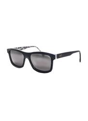 Maui Jim Polarized Full Rim Square Black Sunglasses Unisex, Grey Lens, MJ-710, 55/17/145