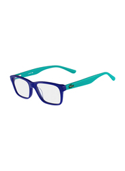 Lacoste Full-Rim Square Blue Azure Computer Glasses for Kids, with Blue Light Filter, Clear Lens, 8-13 Years, LA-L3612-424-46-BC, 46/15/130