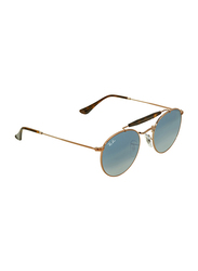 Ray-Ban Full Rim Aviator Gold Sunglasses Unisex, Blue Gradient Lens, RB3747-90353F, 50/21/145
