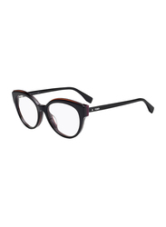 Fendi Full Rim Cat Eye Black Frame for Women, FN-0280-8075118, 51/18/140