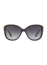 Bvlgari Full Rim Cat Eye Black Sunglasses for Women, Grey Gradient Lens, BV6094B-20148G, 57/17/135