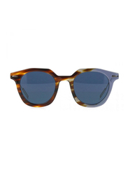 Dior Full Rim Square Havana/Lilla Sunglasses for Men, Blue Lens, CD-DRMASTER-AB847KU, 47/22/150