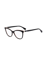 Fendi Full Rim Cat Eye Black Frame for Women, FN-0255-8075316, 53/16/140