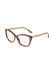 Dolce & Gabbana Full Rim Cat Eye Bronze Frame for Women, DG3280-3131, 52/15/140