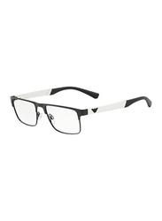 Emporio Armani Full Rim Rectangle Black Frame for Men, EM-1075-3001, 53/18/140