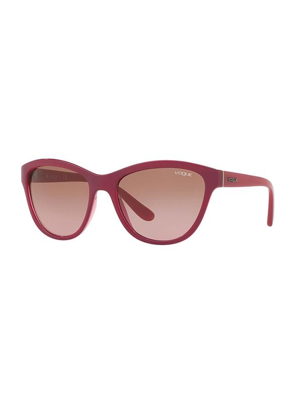 Vogue Full Rim Cat Eye Purple Sunglasses for Women, Brown Lens, VO2993S-241014, 57/18/140