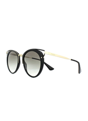Prada Full Rim Cat Eye Black Sunglasses for Women, Grey Lens, PA-66TS-1AB0A7, 54/20/145