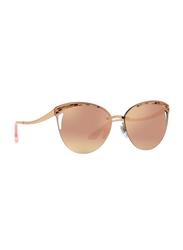 Bvlgari Full Rim Cat Eye Rose Gold Sunglasses for Women, Rose Gold Mirrored Lens, BV6110-20144Z, 63/15/140