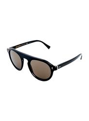 Dolce & Gabbana Full Rim Round Black Sunglasses for Men, Grey Lens, DG43061/R5, 50/23/145