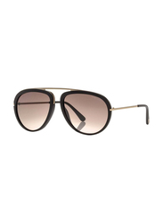Tom Ford Full Rim Aviator Black Sunglasses Unisex, Black Gradient Lens, FT-045202T57, 57/16/140