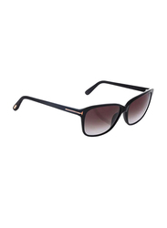 Tom Ford Full Rim Cat Eye Black Sunglasses for Women, Grey Gradient Lens, FT-043201B59, 59/15/140