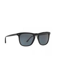 Giorgio Armani Full Rim Rectangle Black Sunglasses for Men, Black Lens, GI-8107-5017R5, 53/20/145