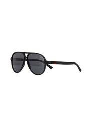 Gucci Full Rim Aviator Black Sunglasses for Men, Black Lens, GU-0423/S-007, 60/13/150