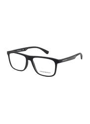 Emporio Armani Full Rim Square Black Frame for Men, EM-3117-5063, 55/16/140