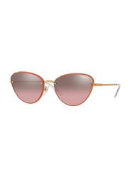 Vogue Full Rim Cat Eye Gold Sunglasses for Women, Pink Lens, VO4111S-50757A, 57/16/135