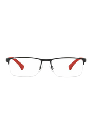 Emporio Armani Half-Rim Rectangle Matte Black/Red Frame for Men, EM-1041-3109, 55/17/140