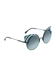 Fendi Full Rim Cat Eye Black Sunglasses for Women, Blue Green Gradient Lens, FN-0215/S-0KC53EQ, 53/22/135