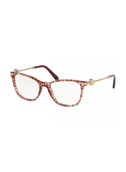 Bvlgari Full Rim Cat Eye Crystal Red Frame for Women, BV416951, 54/17/140