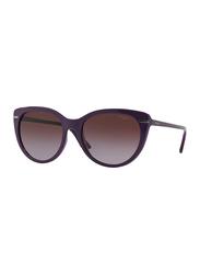 Vogue Full Rim Cat Eye Violet Sunglasses for Women, Violet Lens, VO2941S-22778H, 56/18/140