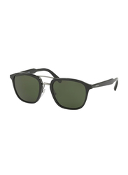 Prada Full Rim Square Black Sunglasses for Men, Grey Lens, PA-12TS-1AB1I0, 54/22/145