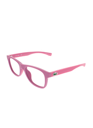 Lacoste Full-Rim Square Pink Computer Glasses for Kids, with Blue Light Filter, Clear Lens, 8-13 Years, LA-L3620-526-48-BC, 48/16/130