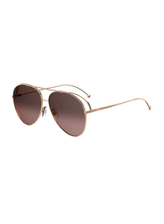 Fendi Full Rim Aviator Brown Sunglasses for Women, Brown Gradient Lens, FN-0286/S-DDB63HA, 63/13/135