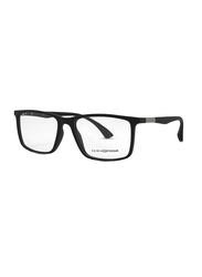 Zainia Full-Rim Rectangle Black Computer Glasses for Men, with Blue Light Filter, Clear Lens, ZNF-Z1142-C202-BC, 54/18/140
