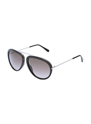 Tom Ford Full Rim Aviator Black Sunglasses Unisex, Black Lens, FT-045201K57, 57/16/140