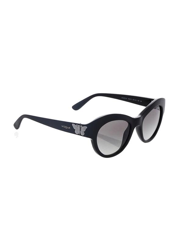 Vogue Full Rim Butterfly Black Sunglasses for Women, Grey Lens, VO2872S-W44/11, 50/19/135