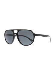 Emporio Armani Full Rim Pilot Black Sunglasses for Men, Black Lens, EM-4111-500187, 57/18/145