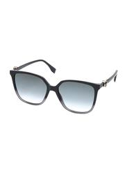 Fendi Full Rim Square Grey Sunglasses for Women, Grey Gradient Lens, FN-0318/S-KB7579O, 57/17/145
