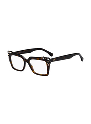 Fendi Full Rim Square Havana Frame for Women, FN-0300-0865317, 53/17/140