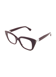 Fendi Full Rim Cat Eye Plum Frame for Women, FN-0274-0T74818, 49/18/140