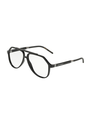 Dolce & Gabbana Full Rim Aviator Black Frame for Men, DG5038-501, 56/13/145