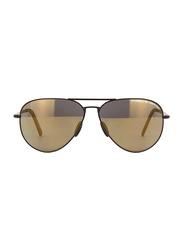 Porsche Design Full Rim Aviator Gunmetal Sunglasses for Men, Light Brown Lens, PD-8508O, 60/12/140