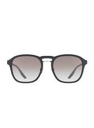 Prada Linea Rossa Full Rim Square Black Sunglasses for Men, Grey Gradient Lens, PS-02SS-DG00A7, 55/20/145