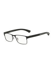 Emporio Armani Full Rim Rectangle Matte Black Frame for Men, EM-1052-3094, 53/17/140