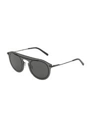 Dolce & Gabbana Full Rim Aviator Smoke Grey Sunglasses for Men, Smoke Grey Lens, DG2169-01/87, 48/26/145