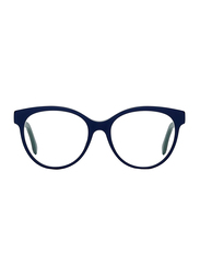 Fendi Full Rim Round Blue Frame for Women, FN-0275-PJP5217, 52/17/145