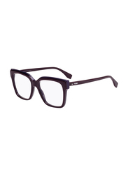 Fendi Full Rim Square Plum Frame for Women, FN-0279-0T75217, 52/17/140