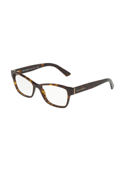 Dolce & Gabbana Full Rim Square Havana Frame for Women, DG3274-502, 52/17/140